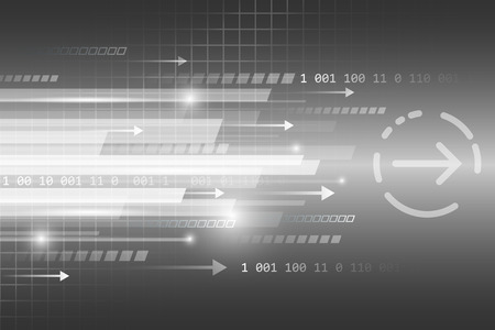lineas rectas: líneas rectas Resumen de vectores de fondo futurista tecnológico con el número y las flechas.