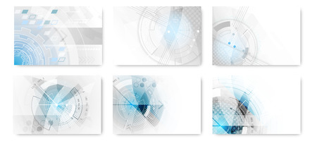 technological: Set of abstract technological futuristic vector background.