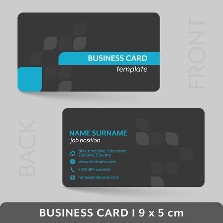 presentation card: Business card template for your corporate or personal presentation. Vector illustration.