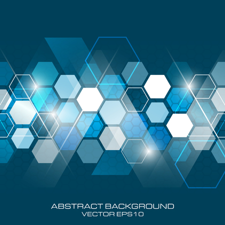 hexagonal pattern: Abstract vector future business technology background with hexagonal pattern.