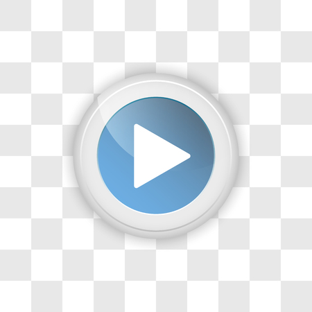 Web button play on a transparent vector background.