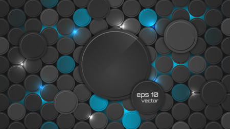 Abstract background or pc desktop wallpaper. Vector illustration with circle pattern and backlighting. Ilustrace
