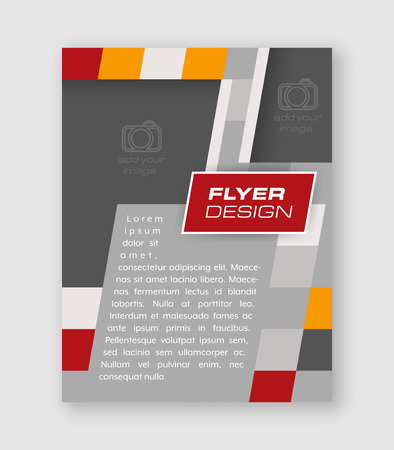 cataloged: Abstract business flyer template, brochure or corporate banner. Vector design for your creative editing.