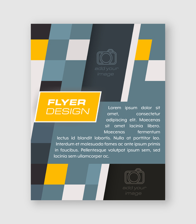 Abstract business flyer template, brochure or corporate banner. Vector design for your creative editing.