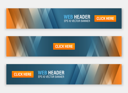 Abstract website header. Horizontal vector banners for your project.