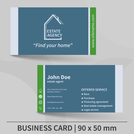 Business card template real estate agency design for your business card template real estate agency design for your individual or business presentation wajeb Images
