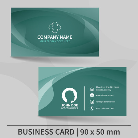 Gold and black horizontal business card template design for 83176293 business card template design for your individual or business presentation suitable for printing vector illustration accmission Image collections