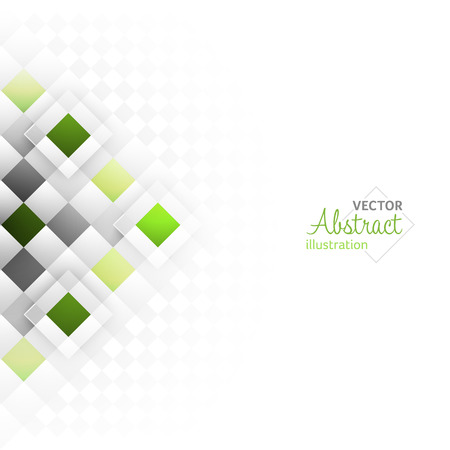 Abstract background with a square geometric pattern. Vector illustration with place for your content or creative editing. Illustration