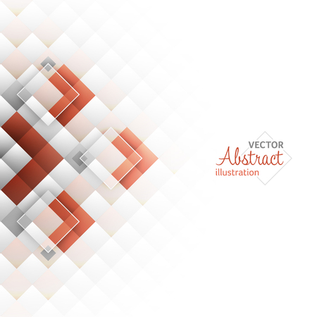 Abstract background. Square shapes. Vector illustration with stripe for your content.