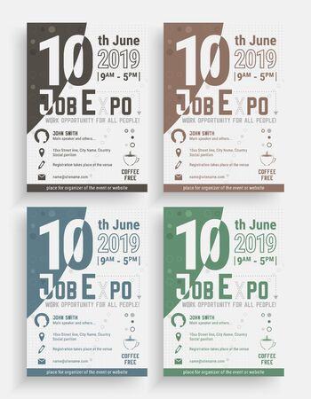 Modèle de flyer d'événement commercial, brochure ou bannière d'entreprise.