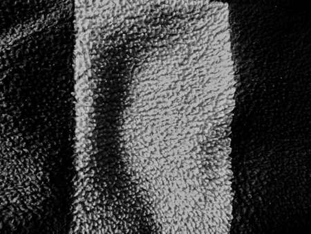 soft and abstract texture of wool fabric in black and white