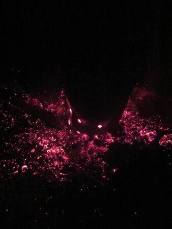 Burning embers Stock Photo
