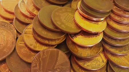 copper: Copper coins Stock Photo