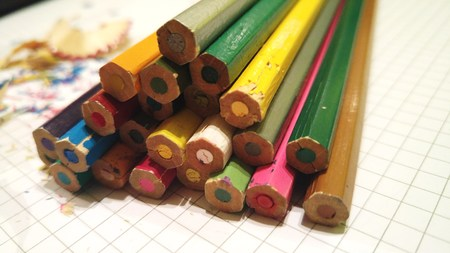 coloured: Coloured pencils