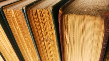 antiquarian: Dusty old antiquarian library books