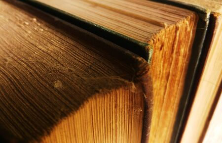dusty: Dusty old books full of knowledge Stock Photo
