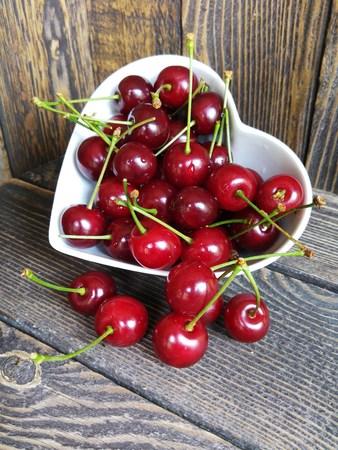 Bowl of fresh ripe cherries