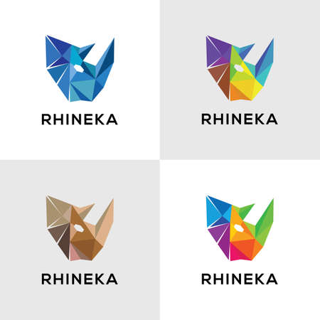 Rhino is made of geometric elements 向量圖像