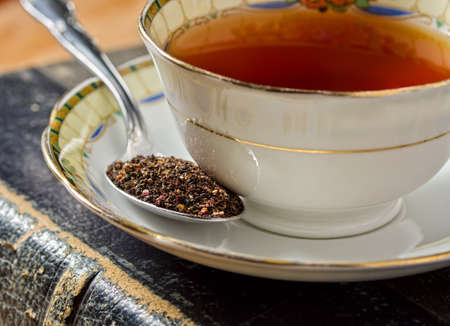 tannin: A cup of traditional old english tea.