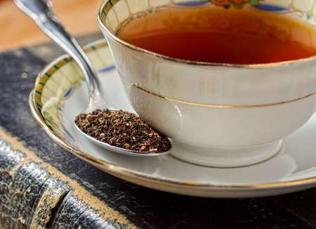 english tea: A cup of traditional old english tea.