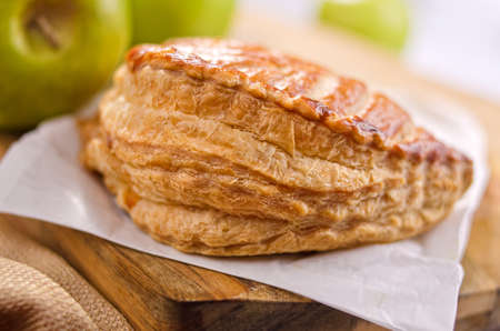 A freshly baked apple turnover. Stock Photo