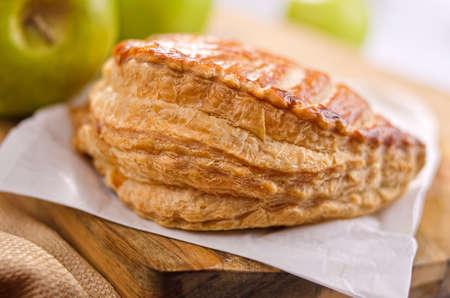 turnover: A freshly baked apple turnover. Stock Photo