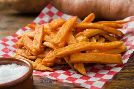 sweet potato: Sweet Potato Fries Stock Photo