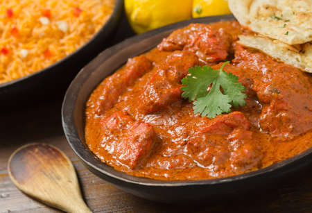 curry chicken: Chicken Tikka Masala Stock Photo