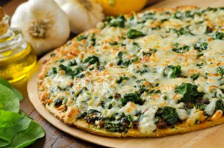 espinaca: Espinacas pizza