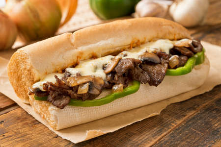 Steak and Cheese Sub Stock Photo - 24048508