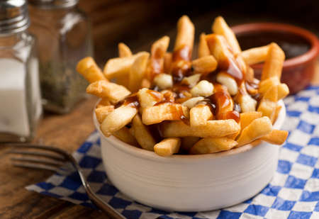 gravy: Poutine Stock Photo