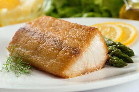 seared: Pan Seared Fish Stock Photo