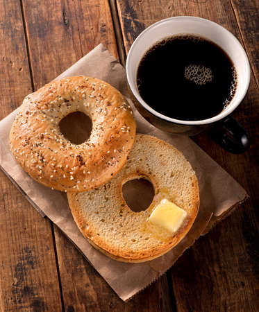 coffee table: Toasted Bagel