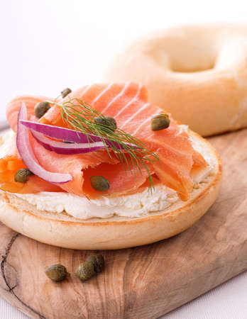 Lox and Bagel with Cream Cheese Stock fotó