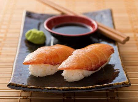 nigiri: Smoked Salmon Sushi Nigiri