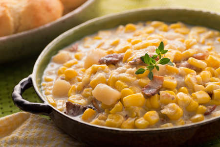 chowder: Corn Chowder Stock Photo