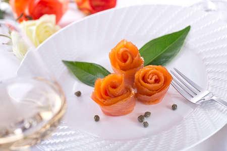 smoked: Smoked Salmon Roses