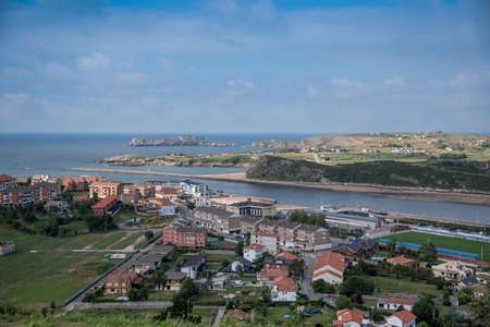 Views of the town of Suances, Cantabria, Spain from the Quinta del Amo viewpoint
