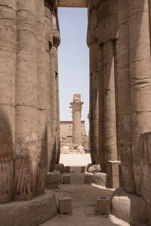 Temple of Luxor, located in the heart of ancient Thebes, consecrated to the god Amon, under his two aspects Amon-Ra, in Egypt, Africa