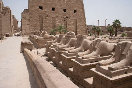 Karnak Temple, located on the eastern bank of the Nile River, opposite Luxor, the area of ??ancient Thebes, which housed the most important religious complex in Ancient Egypt, Africa.