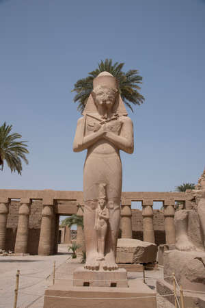 Karnak Temple, located on the eastern bank of the Nile River, opposite Luxor, the area of ancient Thebes, which housed the most important religious complex in Ancient Egypt, Africa.