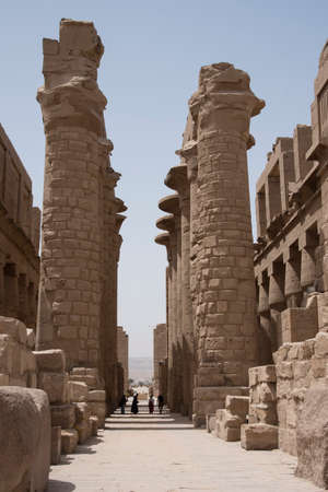Karnak Temple, located on the eastern bank of the Nile River, opposite Luxor, the area of ​​ancient Thebes, which housed the most important religious complex in Ancient Egypt, Africa.