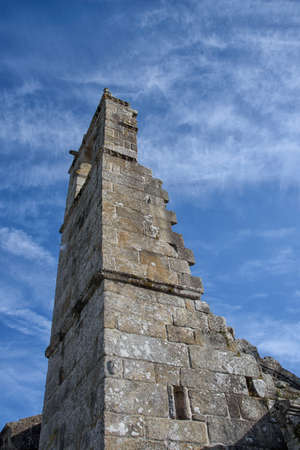 Stone remains of a church, in the cemetery of Cambados, Rias Bajas, Pontevedra, Galicia, Spain, Europe.