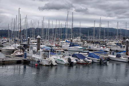 Boats in the port of Combarro, a parish belonging to the municipality of Poio in Pontevedra, Galicia, Spain, Europe.