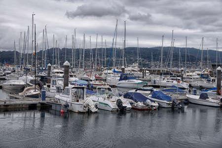 Boats in the port of Combarro, a parish belonging to the municipality of Poio in Pontevedra, Galicia, Spain, Europe. Фото со стока