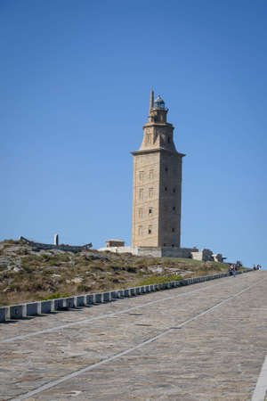 Hercules Tower in La Coruña, Galica, Spain, Europe.