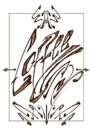 Coffee Typography Ilustrace