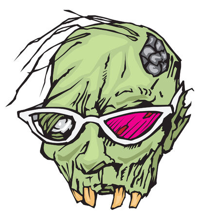 Zombie with sunglasses Illustration