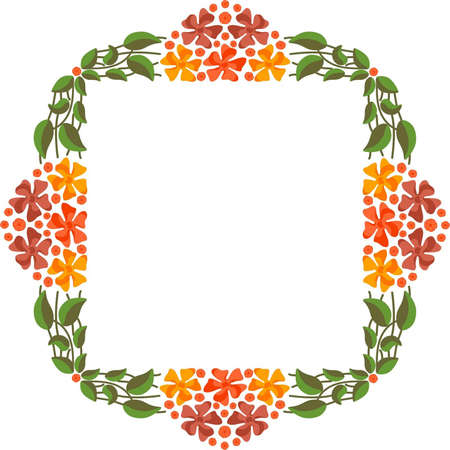 Vector floral frame Stock Vector - 18345304