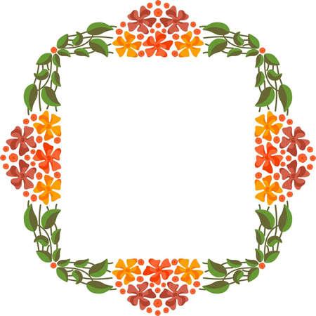 biotin: Vector floral frame Illustration